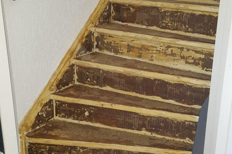 Trap met laminaat en led u2022 floortec schilten