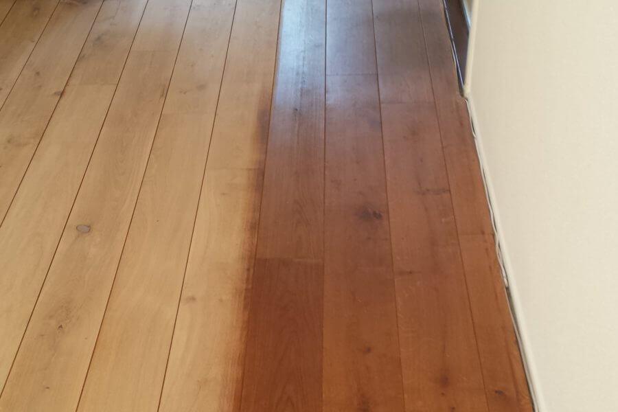 gedeeltelijk geschuurde vloer in nieuw-vennep
