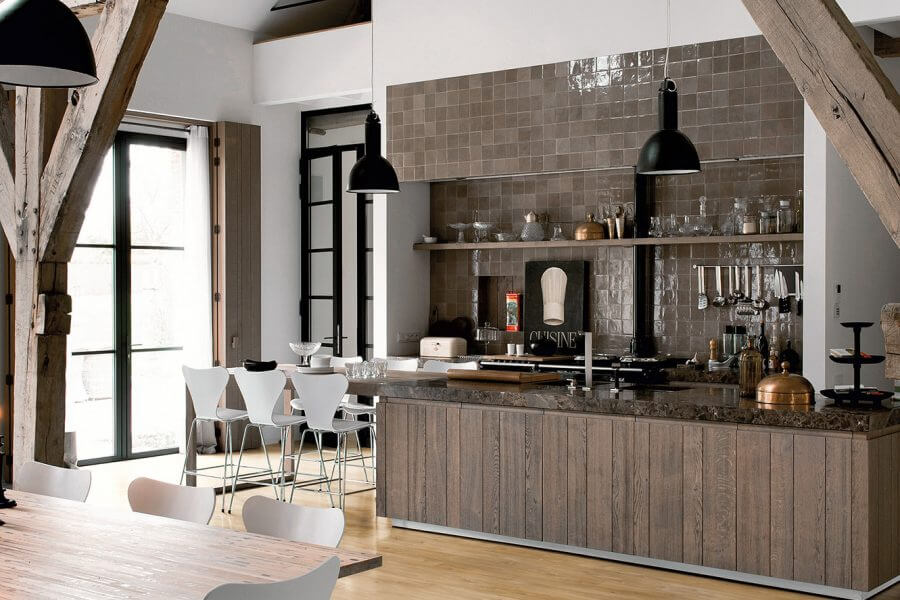 Keuken belegd met laminaat