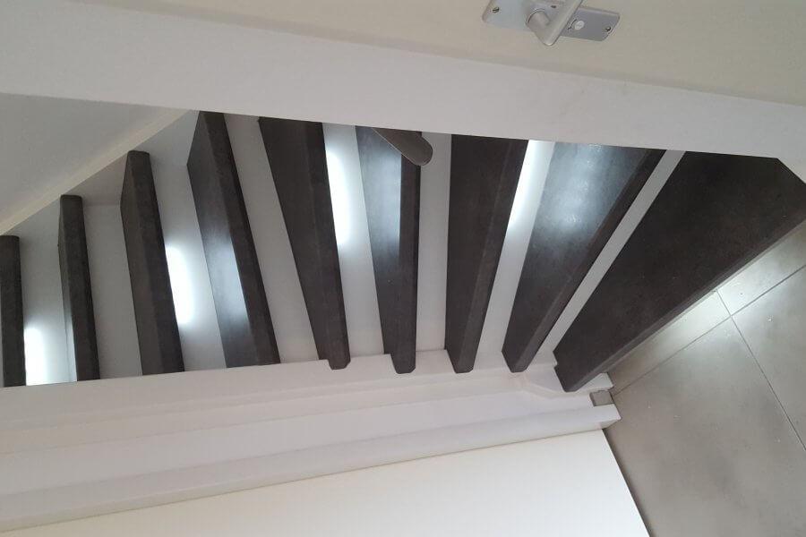 renovatie van een trap voorzien van led