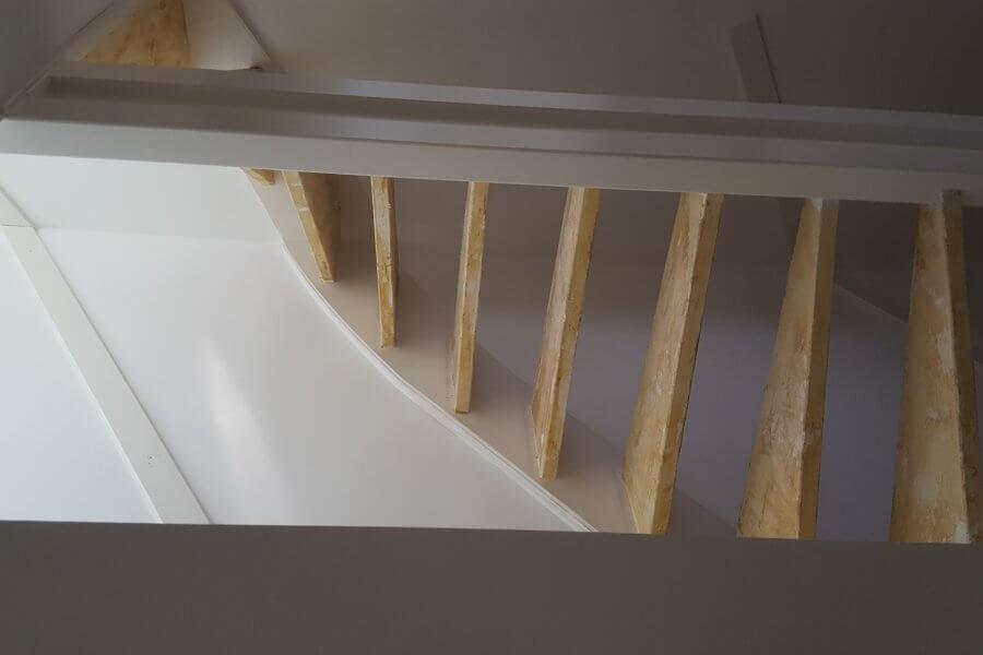 gestripte trap vooraanzicht