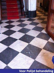 vloer voor polijst behandeling
