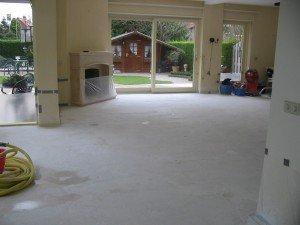 voorbereiding plaatsen marmeren vloer