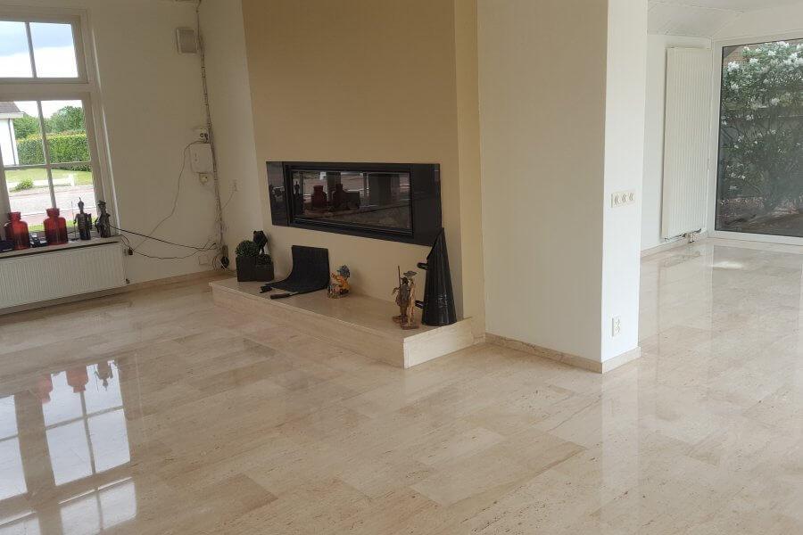 Schilten Floortec plaatst en slijpt marmeren vloer